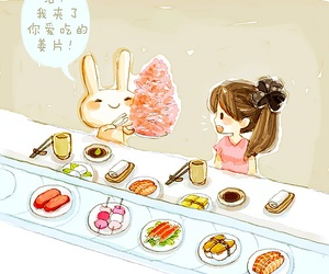 bunny, food, and kawaii image