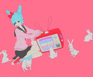 pink, anime, and bunny image