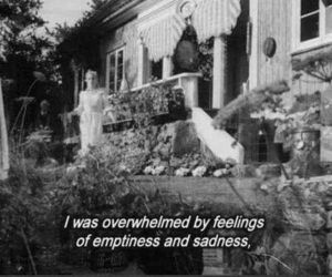 sadness, emptiness, and quote image