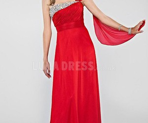 red prom dresses, gorgeous prom gowns, and inexpensive prom dresses image