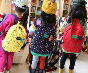student, schoolbags, and lovely kindergarten image