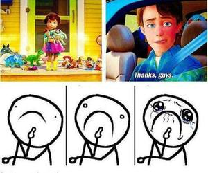 toy story, cry, and sad image