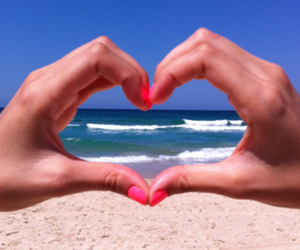 beach, heart, and nails image
