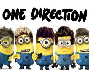 one direction, minions, and 1d image