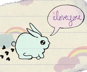 bunny, diary, and hearts image