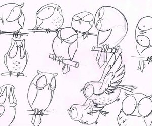 draw, owl, and owls image