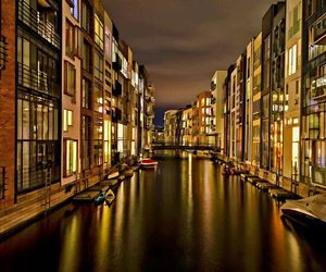 lights, water, and denmark image