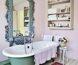 bathroom, vintage, and bathtub image