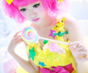 cute, candy, and girl image