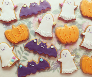 Halloween, Cookies, and ghost image