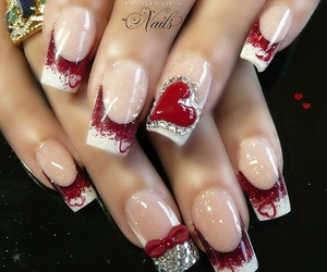 nails, red, and valentine image