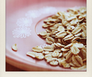 oats, plate, and pink image