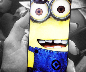 iphone, minions, and case image