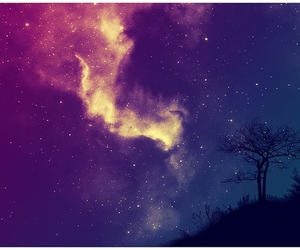 sky, stars, and tree image