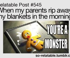 funny, monster, and parents image