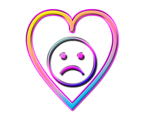 heart, sad, and colorful image
