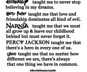 disney, glee, and harry potter image