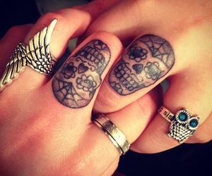 finger, head, and tatoo image