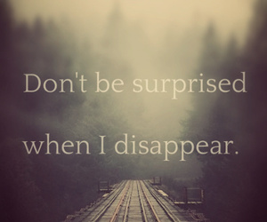 disappear and quote image
