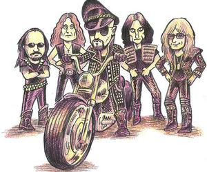 cartoon, drawing, and Judas Priest image