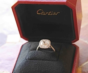 ring, cartier, and diamond image