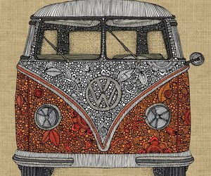 hippie, art, and car image
