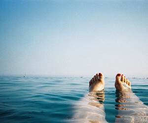 feet, sea, and summer image