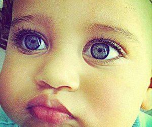 baby, hlou, and eyes image