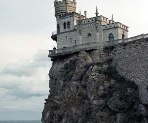 castle, sea, and amazing image