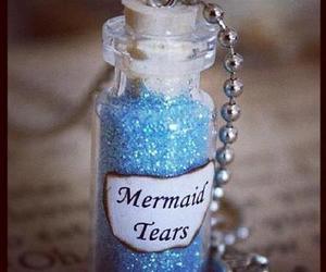 mermaid, blue, and tears image