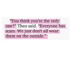 quotes, scars, and sad image
