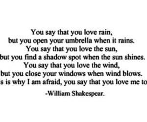 love, quote, and rain image