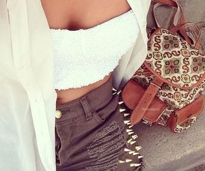 bag, white, and clothes image