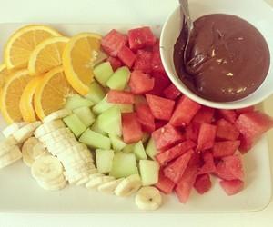 bananas, chocolate, and food image