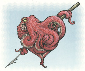 octopus and heart image