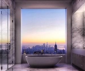 bathroom, new york, and luxury image