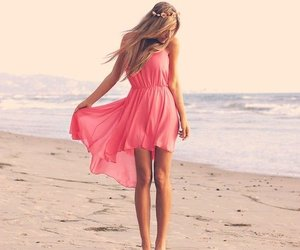 dress, pink, and sea image