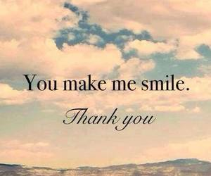 smile, you, and thank you image