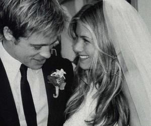 brad pitt, Jennifer Aniston, and wedding image