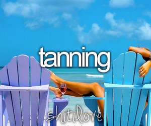 summer, tanning, and beach image