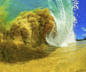 waves, beach, and sand image