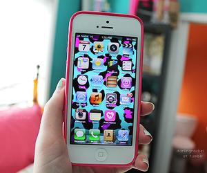 iphone, pink, and cool image