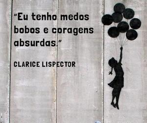 frases, clarice lispector, and fear image