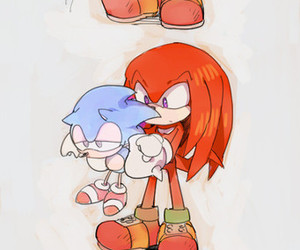 knuckles, Sonic the hedgehog, and sonic image
