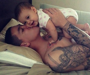 baby, love, and tattoo image