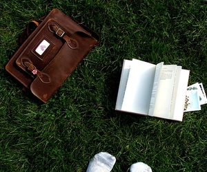 book, afternoon, and grass image