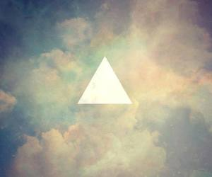 hipster, triangle, and sky image