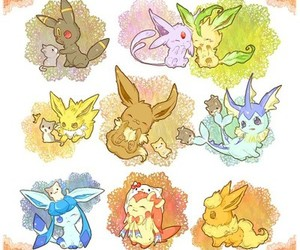 pokemon, eevee, and espeon image