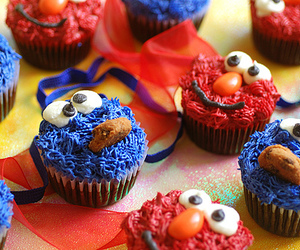 cute, cupcake, and blue image