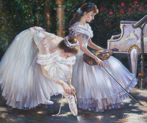 ballet, music, and painting image